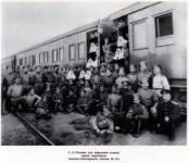 Санитар Сергей Есенин (на переднем плане), 1916 год