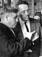 19. Ю. Левитан в цехе ЧТЗ, 1962 г.