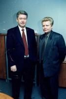 34. С замом полпреда Президента РФ в УрФО Сергеем Собяниным, 2000 г.