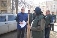 57. На субботнике на улице ЧР в честь 100-летия ЧР, апрель 2008 года