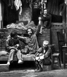 ÌÕÀÒ. Ñöåíà èç ñïåêòàêëÿ «Íà äíå» Ì. Ãîðüêîãî. 1902
